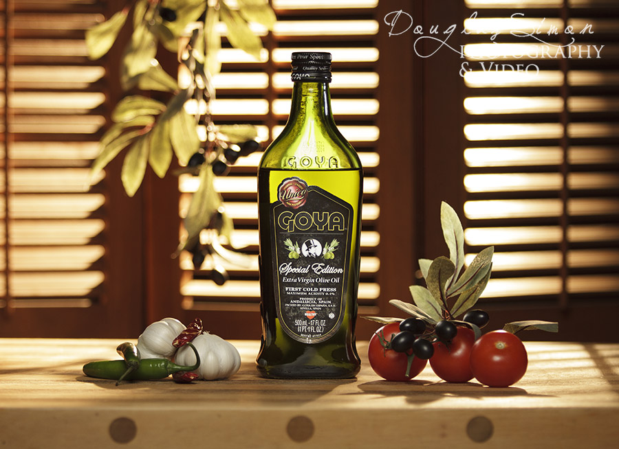 Olive Oil Bottle Photography