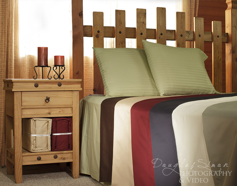 Bedding Staging Product Photography