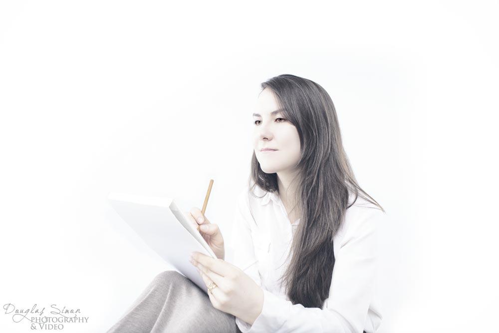 Portrait Photography on White Background