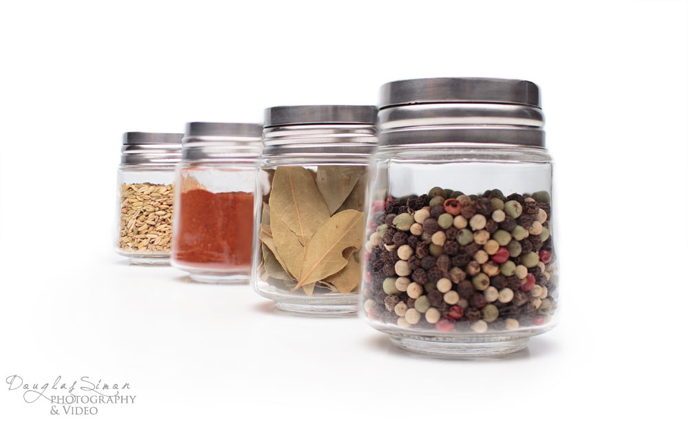 Product on White, Spice Jars