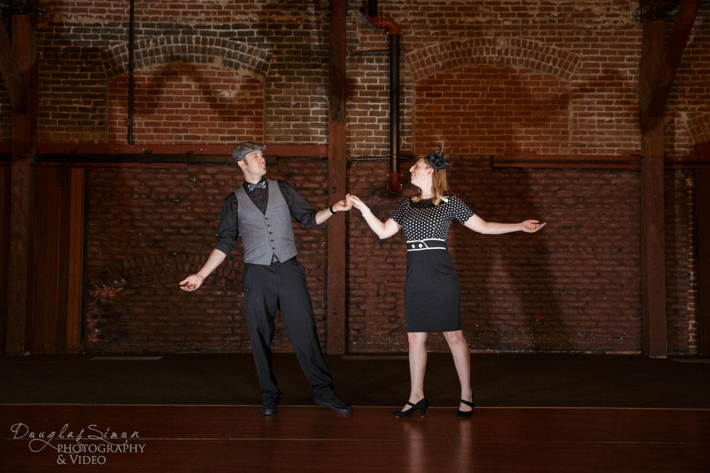 Engagment Shadow Dancing and Polka Dots
