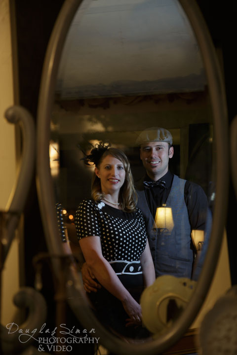 Reflection in a Window for Engagement Photography